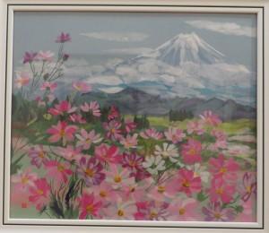 展示会(26日) 033(和紙ちぎり絵)望月茂子