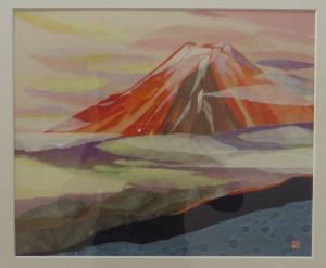 展示会(26日) 036(和紙ちぎり絵)望月利子