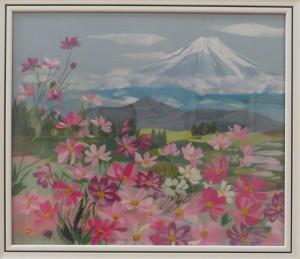 展示会(26日) 041(和紙ちぎり絵)中根ゆき子